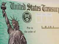 US Treasury Refund Check